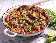 Lime & Sweet Potato Beef Chilli with Cacao