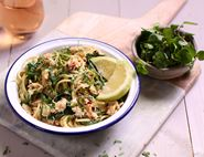 Quick Crab Spaghetti with Wild Sea Vegetables
