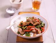 Speedy Peanut Butter Chicken Stir-Fry
