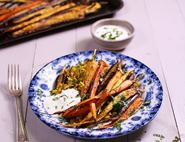 Dukkah Roasted Carrots with Aromatic Rice