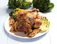 Lemon & Garlic Roast Chicken with Braised Little Gem Lettuces