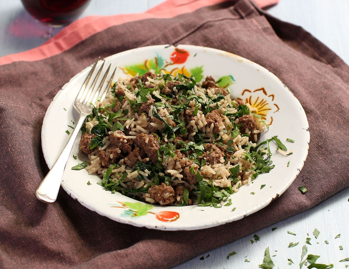 Loaded Spiced Beef Rice