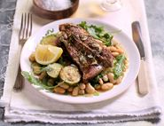 Garlic & Rosemary Lamb Shoulder Chops with Herbed Beans