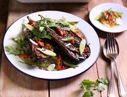 Miso & Maple Glazed Aubergines with Brown Rice