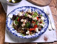 Roast Beet Couscous with Goat's Cheese & Sumach