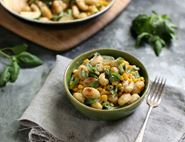 One Pan Gnocchi with Creamy Autumn Vegetables
