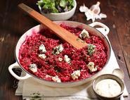 Oven Baked Beetroot & Perl Las Cheese Risotto