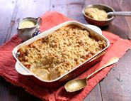 Apple, Pear & White Chocolate Crumble
