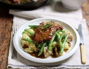 Honey & Mustard Pork Escalopes with Crushed Potatoes