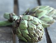 Steamy Globe Artichokes with Garlic Butter