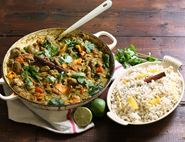 Coconut Game & Wild Mushroom Curry