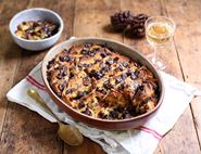 Panettone & Butter Pudding with Dark Chocolate & Cranberries