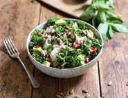 Kale, Avocado & Pomegranate Salad