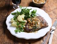 Minute Steaks with Thyme & Mustard Sauce
