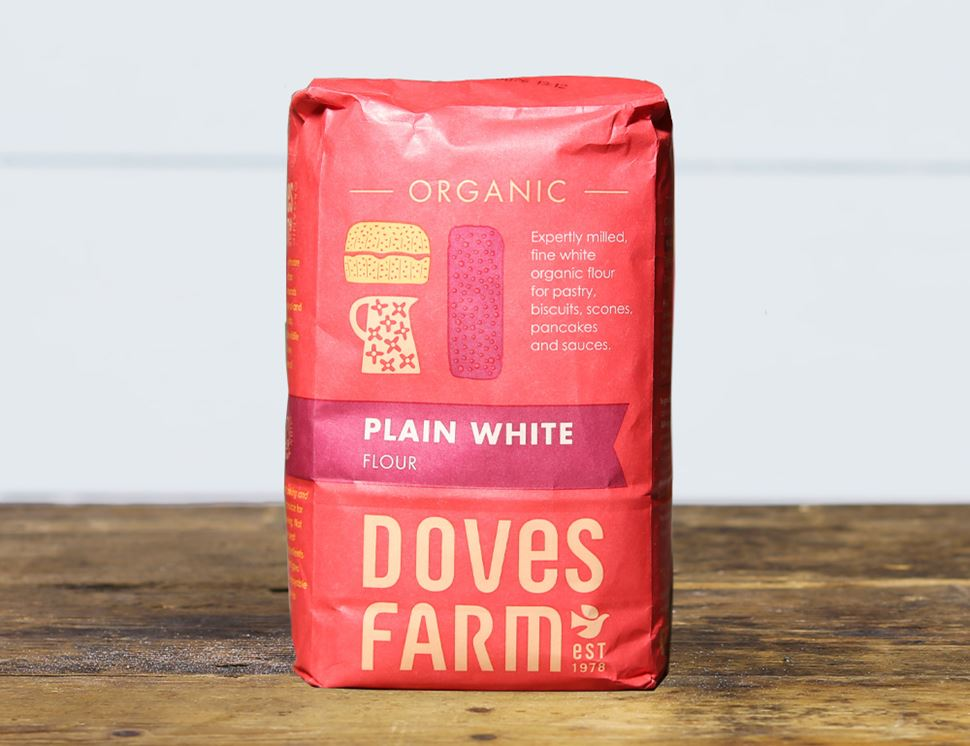 Plain White Flour, Ethical Trade, Organic, Doves Farm (1kg)