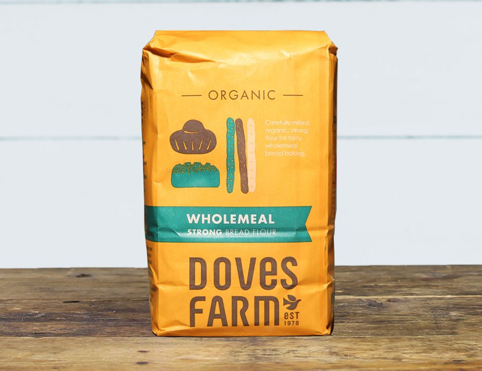 Strong Wholemeal Bread Flour, Organic, Doves Farm (1.5kg)