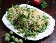 Shredded Sprout, Apple & Barley Salad