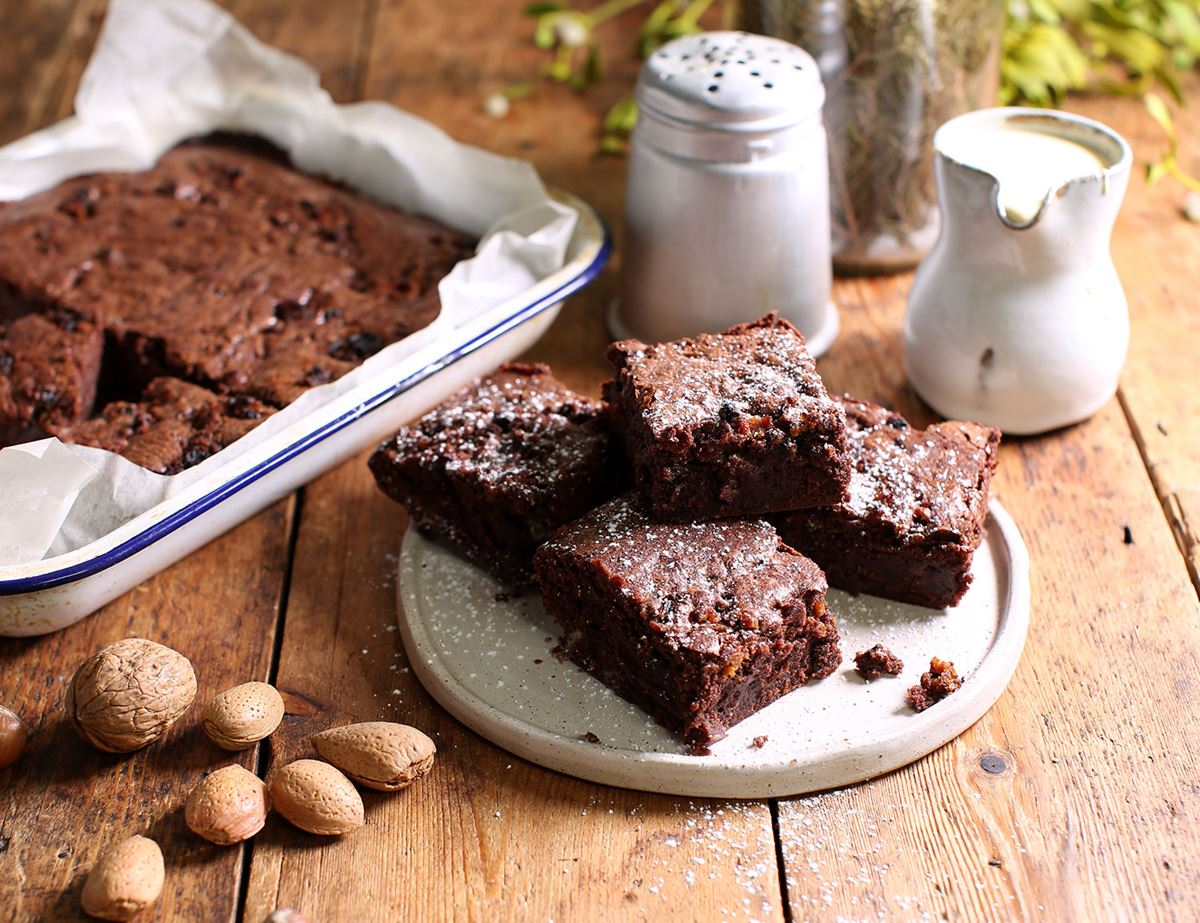 Christmas Pudding Brownies