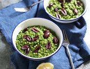 Spinach, Olive & Goat's Cheese Barley Risotto