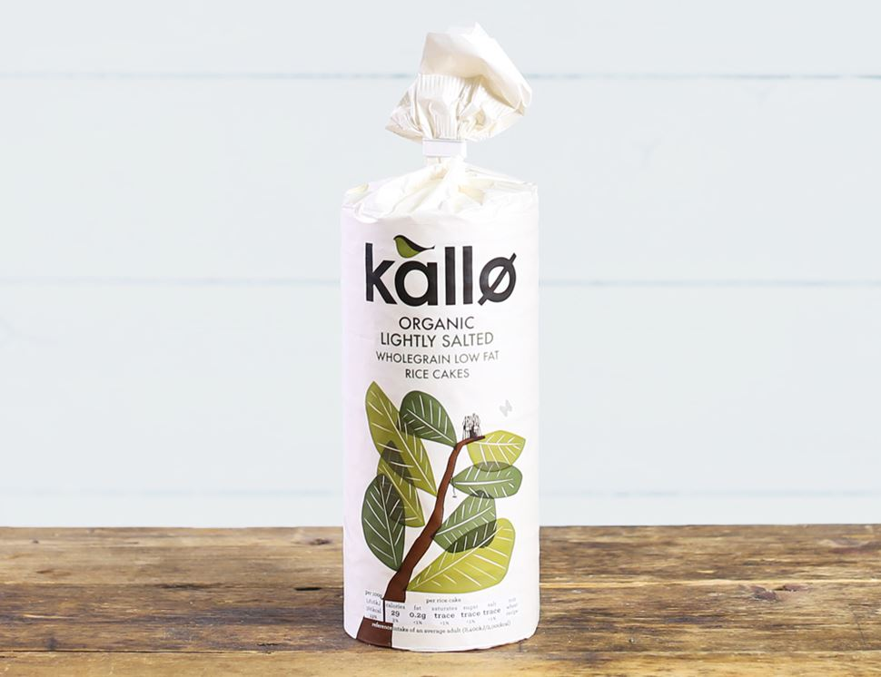 Wholegrain Rice Cakes, Organic, Kallo (130g)