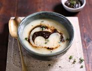 Winter Root & Black Garlic Soup