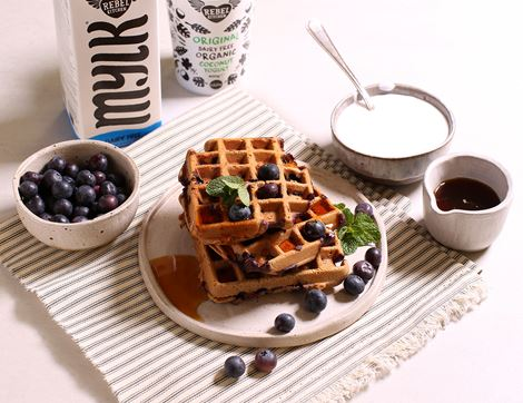 Buckwheat Blueberry Waffles