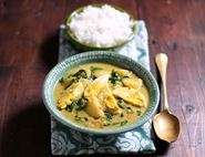 Egg, Potato & Spinach Curry