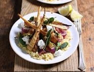 Sage, Chilli & Ricotta Parsnips with Bulgar Wheat