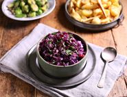 Maple & Apple Braised Red Cabbage