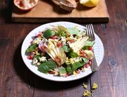 Pear, Pomegranate & Blue Cheese Salad