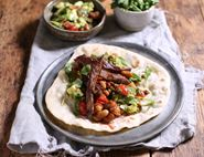 Beef & Smashed Avocado Wraps