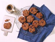 Hazelnut Butter, Chocolate & Coconut Cookies