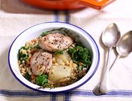 Partridge, Pear & Barley Stew