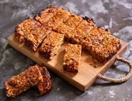 Squidgy Mango, Orange & Sesame Flapjacks
