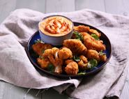 Cauliflower Popcorn with Harissa Mayonnaise