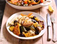 Pheasant with Olives, Tomatoes & Couscous