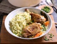 Creamy Chicken Casserole with Parsley Mash