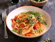 Buttered Chicken & Tomato Spaghetti