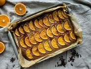Blood Orange & Almond Tray Cake With Clove Syrup