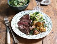 Centre Cut Steaks with Garlic & Herb Potatoes