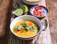 Sweet Potato, Ginger & Peanut Butter Soup