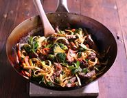 Minute Steak Udon Noodles with Winter Greens