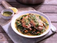 Lemon & Herb Butter Chicken with Lentils