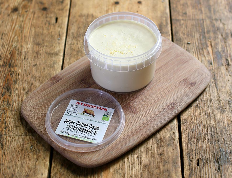 Jersey Clotted Cream, Organic, Ivy House Farm (226g)