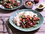 Chilli Con Carne with Guacamole & Rice