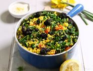 Purple Sprouting Broccoli & Turmeric Pilaf
