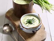 Cream of Wild Garlic & Potato Soup