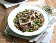 Minute Steaks with Mushroom & Sorrel Sauce