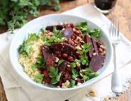 Beetroot, Chickpea & Walnut Stew