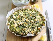 Wild Garlic, Feta & Duck Egg Frittata